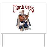 MArdi Gras Desert Runner Yard Sign