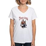 MArdi Gras Desert Runner Women's V-Neck T-Shirt