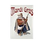 MArdi Gras Desert Runner Rectangle Magnet