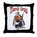 MArdi Gras Desert Runner Throw Pillow