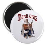 MArdi Gras Desert Runner Magnet