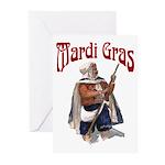 MArdi Gras Desert Runner Greeting Cards (Pk of 10)