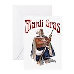 MArdi Gras Desert Runner Greeting Card