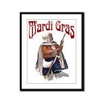 MArdi Gras Desert Runner Framed Panel Print