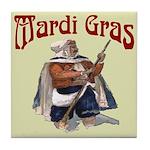 MArdi Gras Desert Runner Tile Coaster