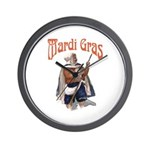 MArdi Gras Desert Runner Wall Clock