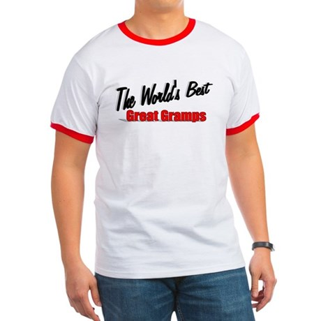 """The World's Best Great Gramps"" Ringer T"