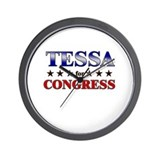 TESSA for congress Wall Clock
