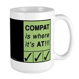 &quot;Compat&quot; Mug ~ black background