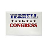 TERRELL for congress Rectangle Magnet