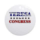 TERESA for congress Ornament (Round)