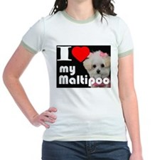 NEW I LOVE My Maltipoo T