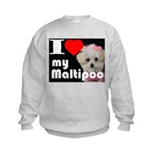 NEW I LOVE My Maltipoo Sweatshirt