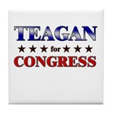 TEAGAN for congress Tile Coaster