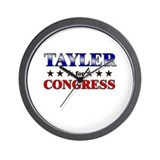 TAYLER for congress Wall Clock