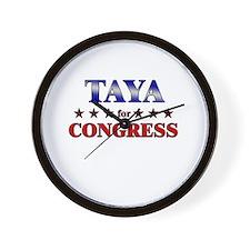 TAYA for congress Wall Clock