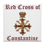 Red Cross of Constantine Tile Coaster