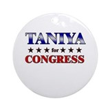 TANIYA for congress Ornament (Round)