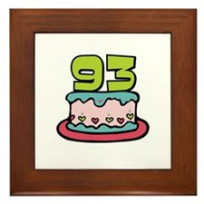 93rd Birthday Cake Framed Tile