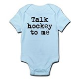 Talk hockey original Infant Creeper