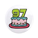 "97th Birthday Cake 3.5"" Button"