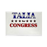 TALIA for congress Rectangle Magnet