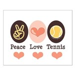 Peace Love Tennis Small Poster