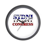 SYDNI for congress Wall Clock