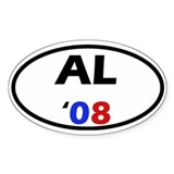 Al '08 Oval Decal