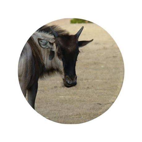 "Wildebeest 3.5"" Button"
