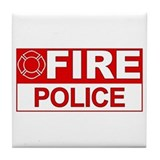 Fire Police Tile Coaster