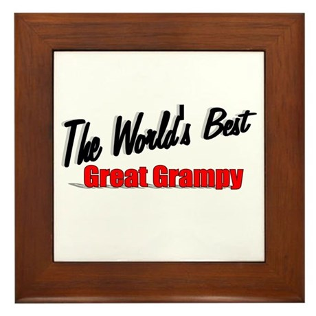 """The World's Best Great Grampy"" Framed Tile"