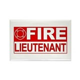 Fire Lieutenant Rectangle Magnet (100 pack)