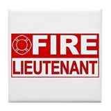 Fire Lieutenant Tile Coaster