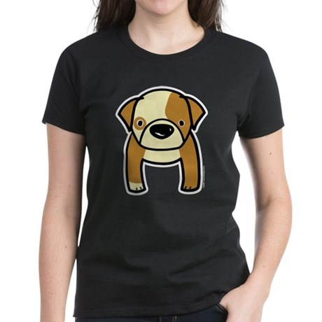 Bulldog Puppy Women's Dark T-Shirt