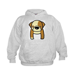 Bulldog Puppy Kids Hoodie