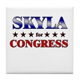 SKYLA for congress Tile Coaster