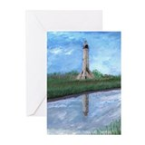 Sabin Pass Lighthouse Greeting Cards (Pk of 20)