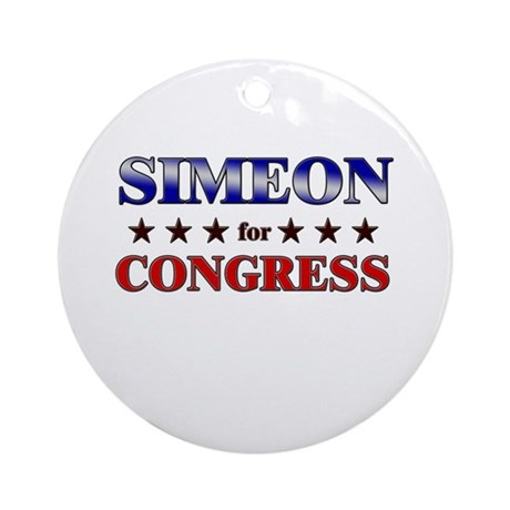 SIMEON for congress Ornament (Round)