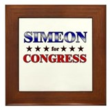 SIMEON for congress Framed Tile