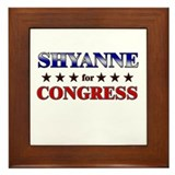 SHYANNE for congress Framed Tile