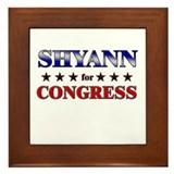 SHYANN for congress Framed Tile