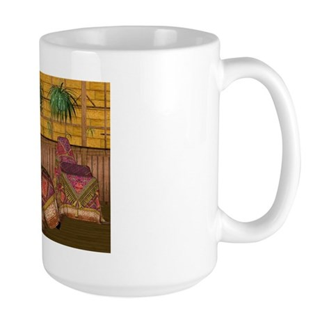 Jewels of India (Red) Large Mug