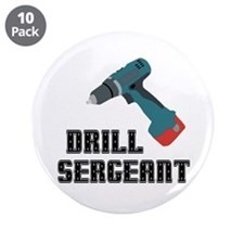 """Drill Sergeant 3.5"""" Button (10 pack)"""