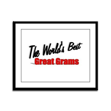 """The World's Best Great Grams"" Framed Panel Print"