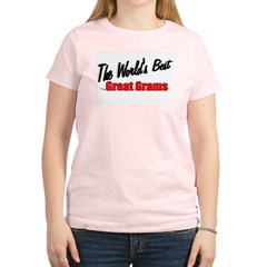 """The World's Best Great Grams"" Women's Light T-Shi"