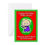 Happy Birthday Baby Jesus Greeting Cards (20pk)