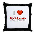 I Love Batam Throw Pillow
