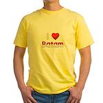 I Love Batam Yellow T-Shirt
