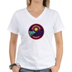 Blood Tribe Police Women's V-Neck T-Shirt